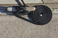 Dock lines should be replaced as needed when they show signs of wear.