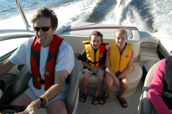 Children should always wear a PFD while out on boats, and adults and pets should wear them whenever conditions warrant it.