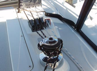 Self-tailing winch can be used for outhaul or mainsheet