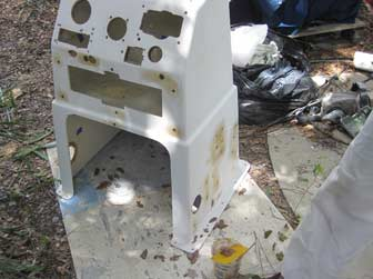 Aft and Starboard Side Console Holes