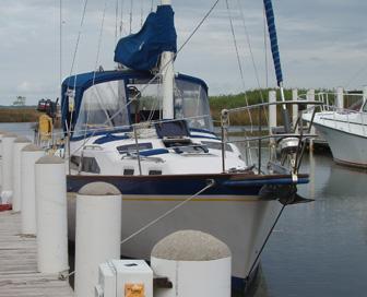 Charlie K at dock at Scipio Marina in Apalachicola