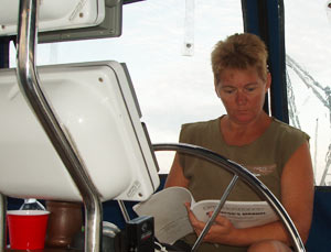 Studying the chartplotter manual