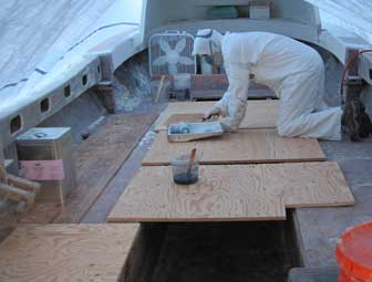 Coating Deck Undersides