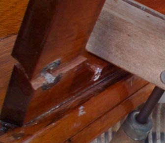 The crack in my Boston Whaler console