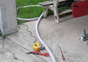 Cutting PVC hose