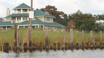 Hurricanes turned docks into pilings