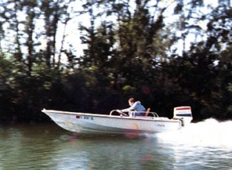 This is me at 15 in my first Boston Whaler. Boy, did we have some good times with that boat.