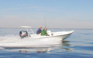 Flats boats benefit from the use of jack plates to get into shallow water