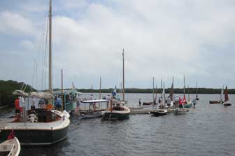 Cortez Traditional Small Craft Festival Fleet At Docks