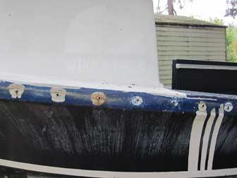 Fluke Port Hull Deck Repair