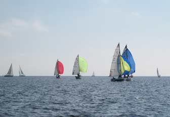 Four spinnakers