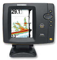 We chose the Humminbird 586c model. The color screen is not merely prettier than a monochrome, but is brighter and easier to see in Florida's summer sun.
