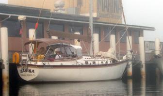 Inanina at dock at Scipio Marina in Apalachicola