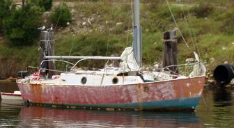 Junky sailboat