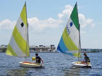 Kids Sailing Downwind