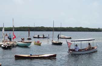 Launch Tows Canoe