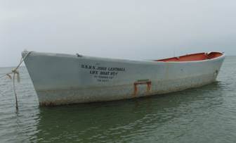 An old US Navy lifeboat