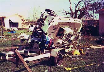 The Experimental Hydro Rocket after Hurricane Andrew