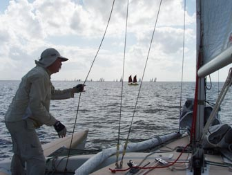A January sailboat race in Florida