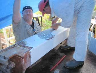 Scab Board Glued
