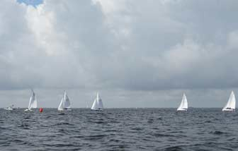 Scots at Upwind Mark