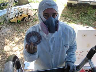 Scott with Grinding Disc