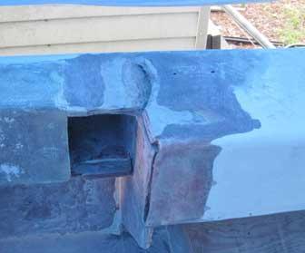 Fluke Starboard Gunwale Crack