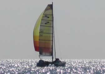 Stiletto 27 spinnaker