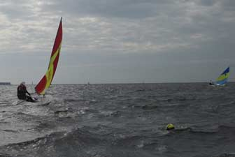 Sunfish Working Upwind