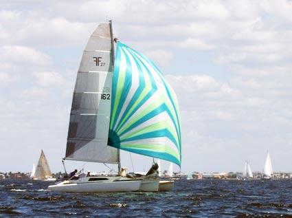 Sailing my F27 trimaran sailboat