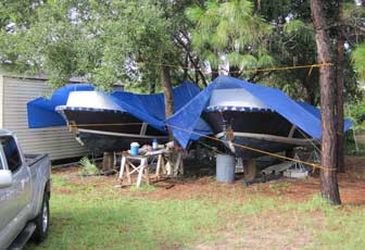 Tarps Over Boats