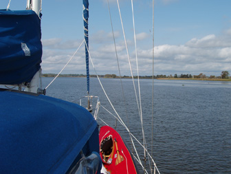 Heading upriver