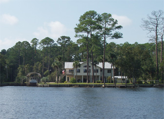 Beautiful waterfront homes