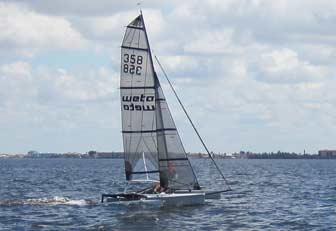 Weta 358 upwind