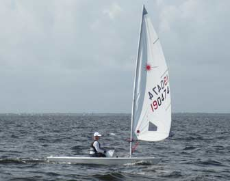 Woman Sailing Laser
