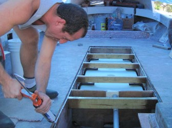 Caulking for Deck on Fluke