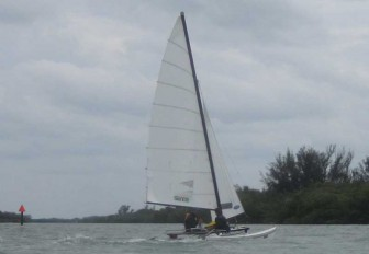 Hobie 16 Leaving Checkpoint 1