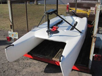 Hobie Bravo in Yard Trailer