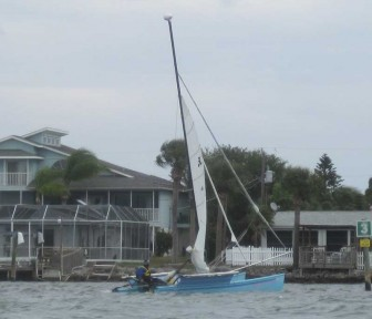 Hobie 18 Arriving at Checkpoint 1