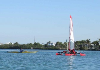 Red Adventure Island and Yellow Kayak