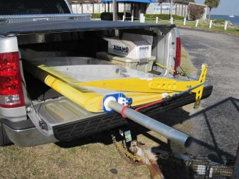 Wing Sail in Pickup Truck Bed
