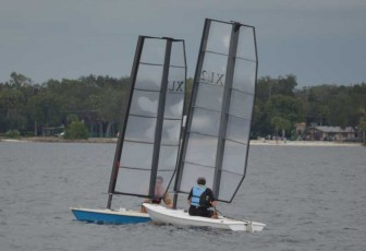 Close Laser Racing Action