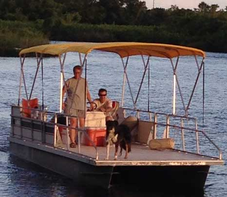 New Life for an Old Pontoon Boat