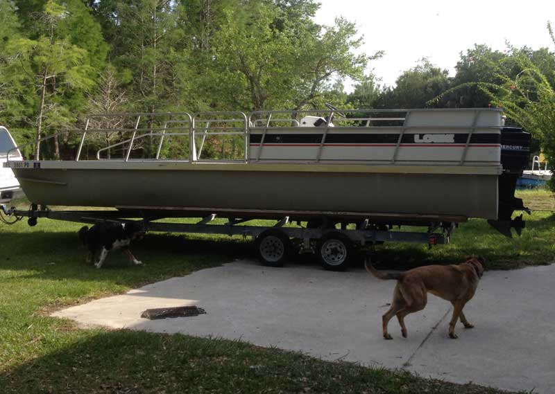 old lowe pontoon boat
