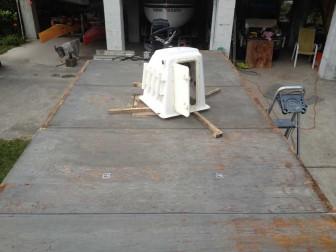 Repainting Pontoon Boat Deck