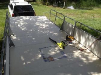 sanding deck