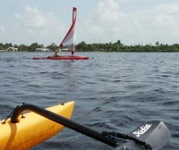 An Adventure Island Kayak Sail in Shell Creek During the Fringes of Ike